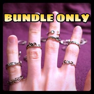 Jewelry - (BUNDLE ONLY) Awesome 21pc Midi Boho Knuckle Rings